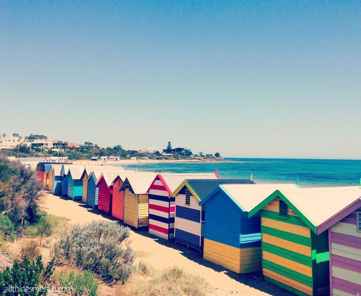 Iconic Beach Huts or Bathing Boxes in Brighton Melbourne