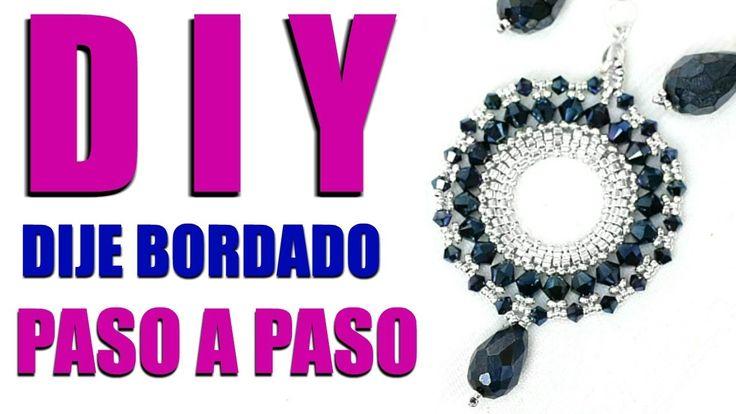 DIY Dije bordado Masterclass! Técnica Peyote Circular!! Paola Herrera - YouTube