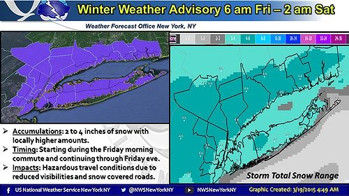 Winter is making a comeback! The National Weather Service has issued a Winter Weather Advisory beginning 6:00 am Friday to 2:00 am Saturday. Click here to get the full story.