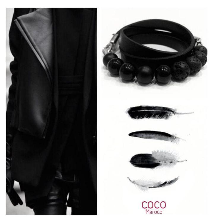 "Natural leather bracelet -   ""CM Secret - Absolut Black"" Coco Maroco  www.flamingolandia.online  @coco.maroco #coco #pink #pinky #girly #cute #flamingolandia #bracelet #naturalleather #handmade #handmadewithlove #instagood #fashion #shoppingonline #shopping #followme #followback #agate #womenaccessories #leatherbracelet #girlythings #oceanblue #fashion #black #feathers"