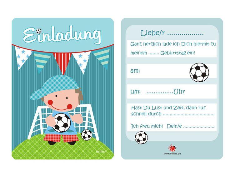 die besten 25+ einladungskarten fußball ideen auf pinterest, Einladung