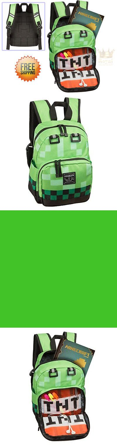 Backpacks and Bags 57882: Cute Mini Backpack For Kids Boys Inspired By Minecraft Video Game Green New -> BUY IT NOW ONLY: $45.48 on eBay!