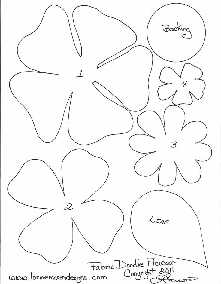 Felt flower patterns paper flower pattern template for Free printable paper flower templates