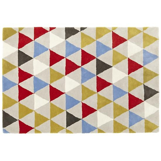 The Land Of Nod | Kids Rugs: Triangle Geometric Rug In Patterned Rugs