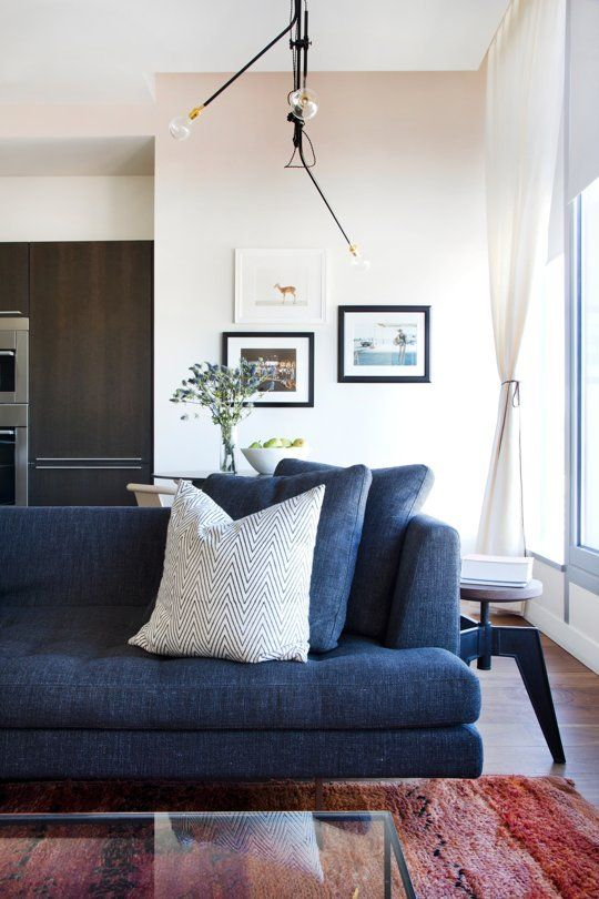 Get the Look for Less: Rebekah's High-End, High-Up, Dreamy Digs. Hipster  ApartmentBlue SofasDenim ...