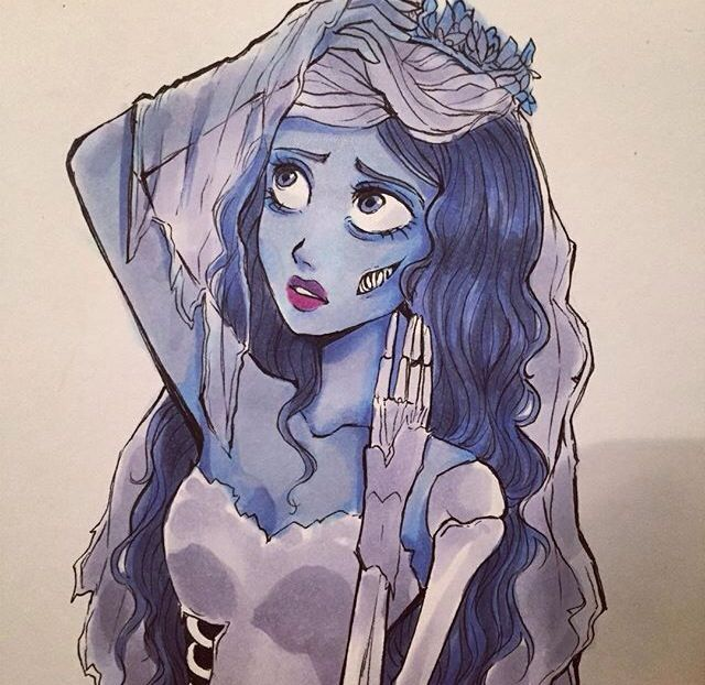 The corpse bride drawing