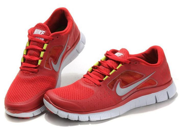 Womens Nike Free Run 3 Gym Red White Reflect Silver Volt. Find this Pin and  more on Womens running shoes ...