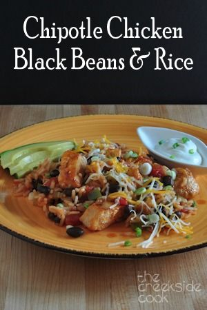 ... Chipotle Chicken, Black Beans and Rice - The Creekside Cook |#chicken