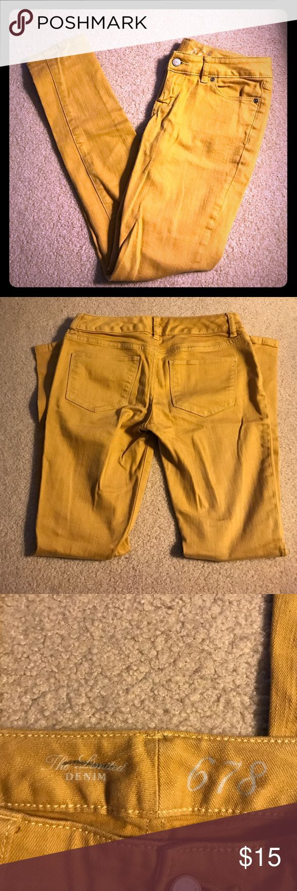 Limited 678 mustard jeans! These jeans are great, just in need of a good ironing! Perfect mustard yellow for fall and winter. Skinny leg, good amount of stretch. In great condition! The Limited Jeans Skinny
