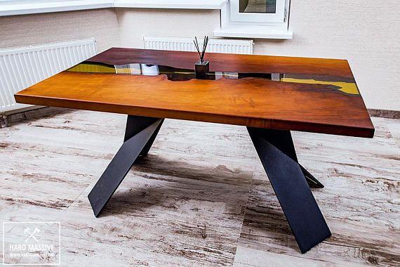 Resine Epoxy Bois Table Table De Riviere En Resine Table De