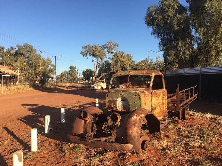 Old trucks at Willowra community, quietly rusting away. It's so dry here that it takes a long time. #willowra #oldcar