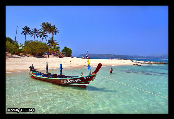 Bon island (or Koh Bon) is located just south of Rawai Beach in Phuket and is just a short longtail boat ride away. http://www.phuket101.net/2014/01/bon-island.html