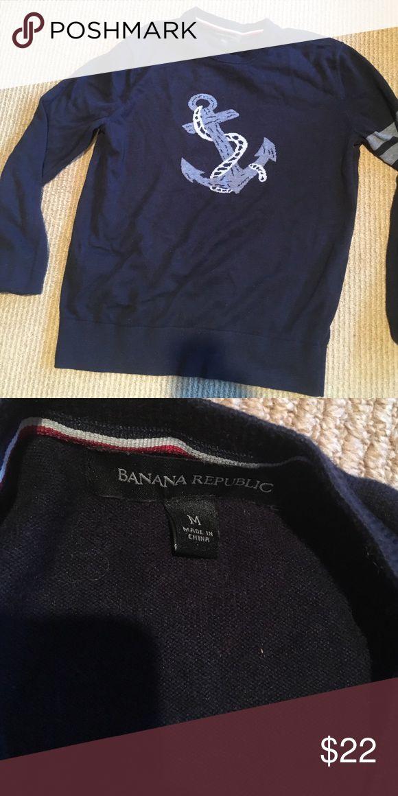 Banana republic men's sweater M Men's sweater with anchor great condition Banana Republic Sweaters Crewneck