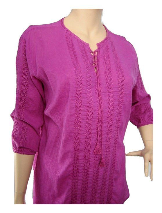 Ralph Lauren Womens Plus Embroidered Lace-Up Peasant Top Pink #ralphlauren