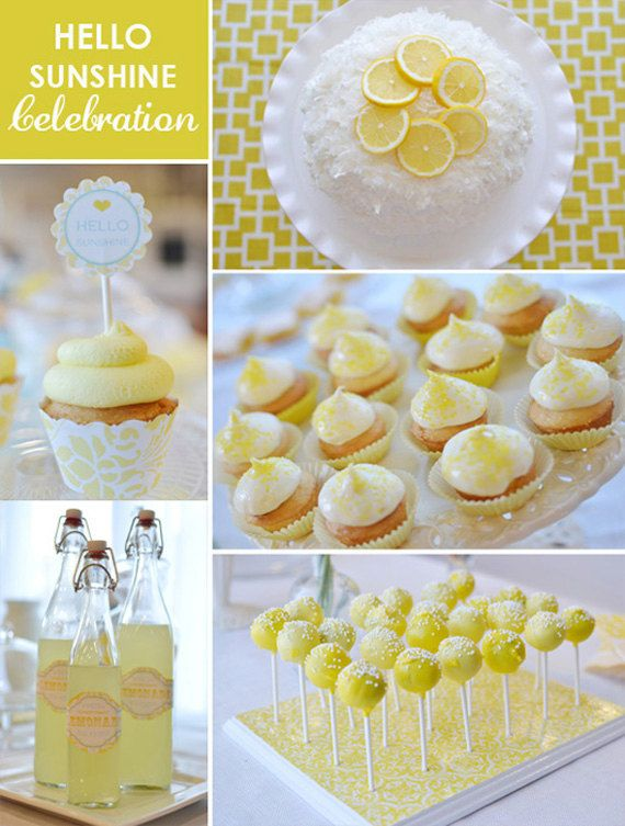 DIY Printables Full Collection  HELLO SUNSHINE by BelvaJune on Etsy --- this is genius! I want to have this party.