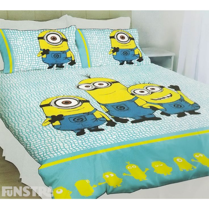 Despicable Me Quilt Cover Set from Funstra Toys. Create a Minions bedroom that's perfect for boys and girls and anyone that loves the Minions and Despicable Me movies.