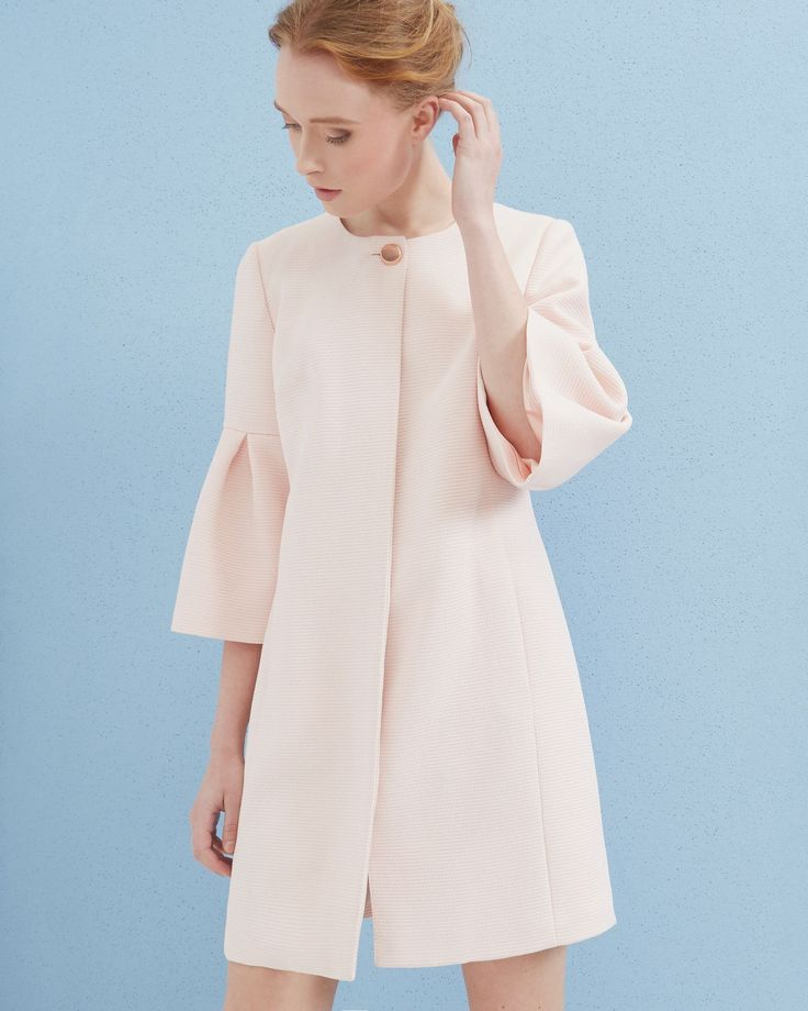 Bell sleeved coat - Baby Pink | Jackets And Coats | Ted Baker