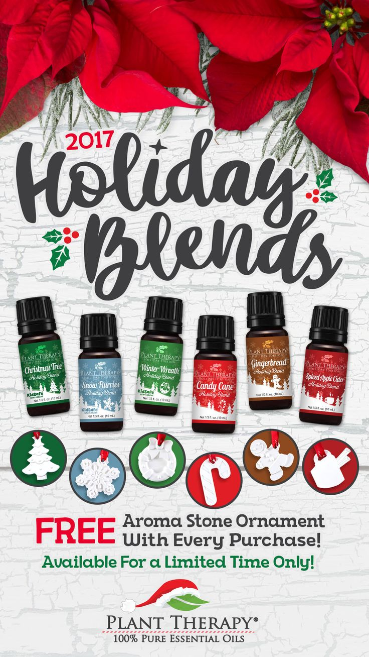 Plant Therapy has created a holiday set that contains 10 ml each of Candy Cane, Gingerbread, Christmas Tree, Snow Flurries, and Winter Wreath.  This Holiday Set comes in a holiday box that is perfectly packaged and ready to go. Easy to use and an easy way to keep your favorite holiday aromas with you throughout the season and the year, the Holiday Blend Set is a must have. Wonderful Essential oils and Aromatherapy.