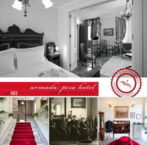 """ARMADA PERA HOTEL - ISTANBUL """"Preserve. Reserve. Serve ~ The life and times of Istanbul at the heart of historical center""""  http://www.armadapera.com/pg_en/# www.armadaistanbul.com www.armadaistanbulculture.com"""