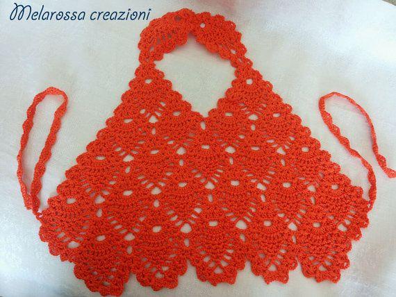Top estivo arancione per bambina hippie chic/fashion boho fatto a mano…