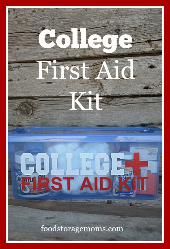 What Should I Put In My College First Aid Kit | by FoodStorageMoms.com