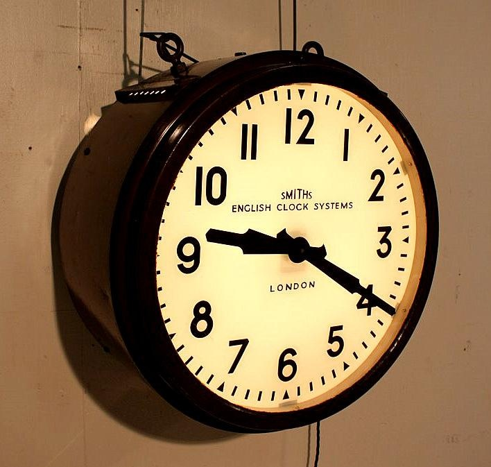 I love old industrial clocks. And lights. And furniture.     Perhaps I should go and live in a factory. In the 1930s.