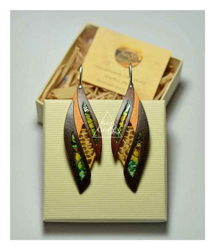 Organic earrings for nature lovers. Only at www.sen-gory.com