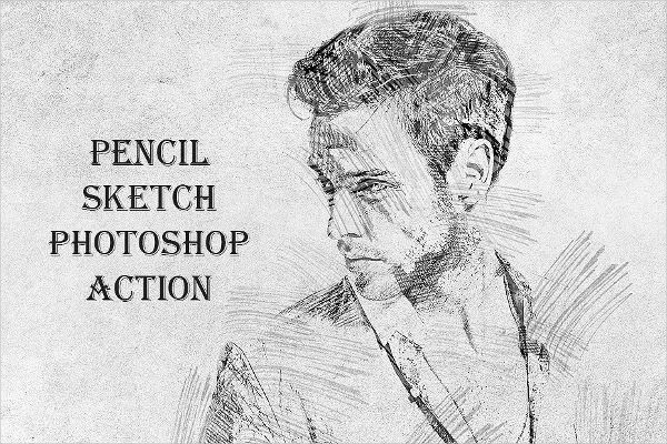 18 Pencil Drawing Photoshop Actions Free Premium Download