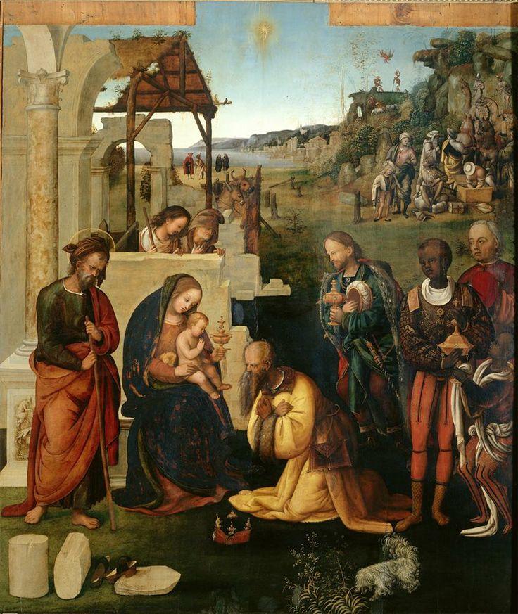 Adoration of the Magi, Amico Aspertini, ca. 1504, Bologna Italy, Oil