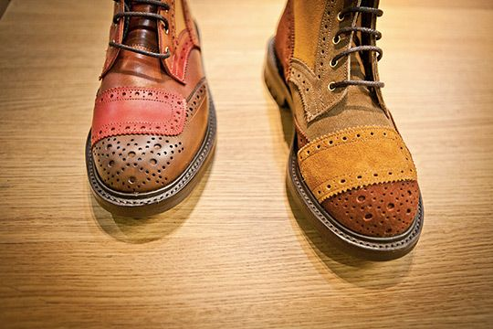 Patchwork brouges by Trickers