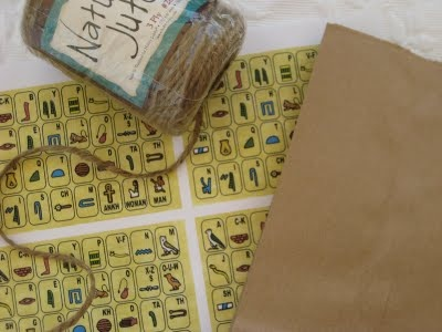 Indiana Jones party - hieroglyphic game idea (decipher hieroglyphic clues) & q-tips w/ straws dart game