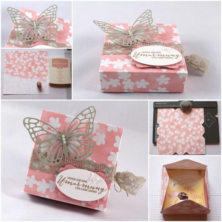 Envelope Punch Board Box Mini Pralinen