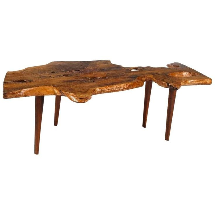 how to make a tree trunk coffee table