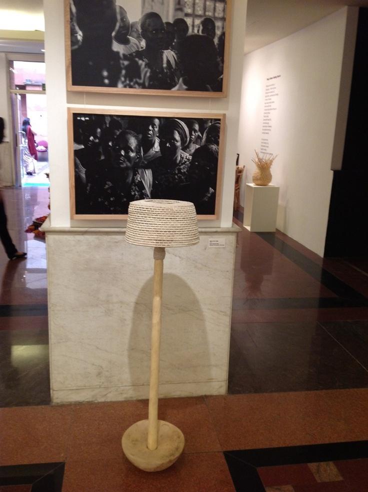 Sisal woven floor lamp