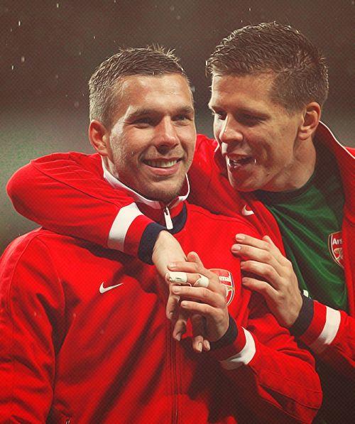 Podolski & Szczesny - Arsenal FC