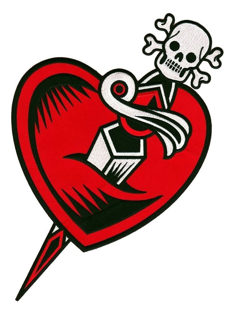 Sourpuss heart dagger back patch new tattoo flash rockabilly pinup vintage