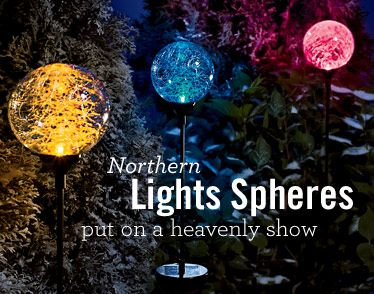 17 best images about solar lights on pinterest gardens for Northern light and garden