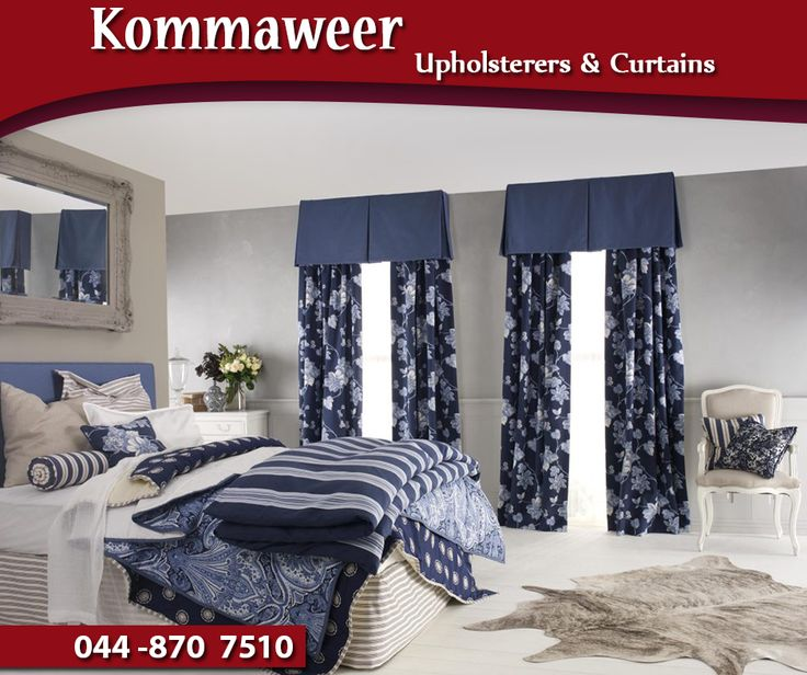 #TuesdayTip: Fabric is an essential part of choosing curtains, since the material will dictate how well your curtains function and hold over time. Contact the #Kommaweer team on 044 870 7510 for assistance.