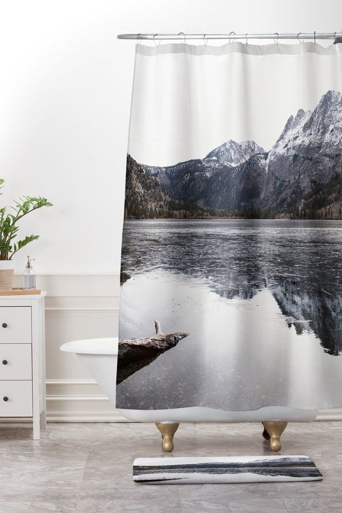 The Lake Shower Curtain And Mat Bree Madden Curtains Shower