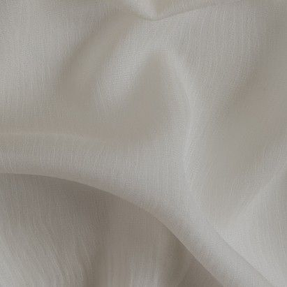 Pristine White Textured Stripes Silk Chiffon Fabric by the Yard | Mood Fabrics