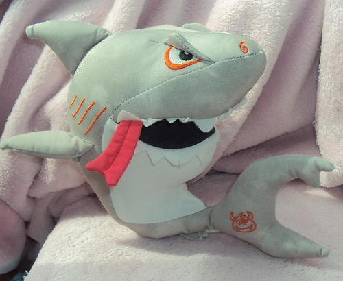 7 Stuffed Plush 2006 Rare Doodle Dudes Gray Shark With 1