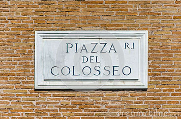 Piazza Del Colosse Street Sign - Download From Over 30 Million High Quality Stock Photos, Images, Vectors. Sign up for FREE today. Image: 51417982