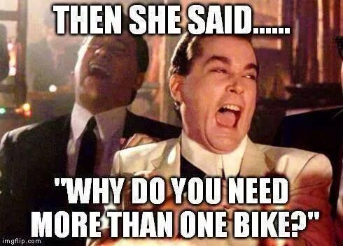 We will never have enough bikes, will we? #motorcycle                                                                                                                                                                                 More