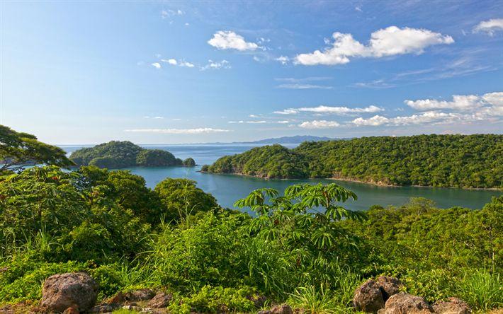 Download wallpapers Papagayo, 4k, coast, sea, summer, Papagayo Bay, Costa Rica