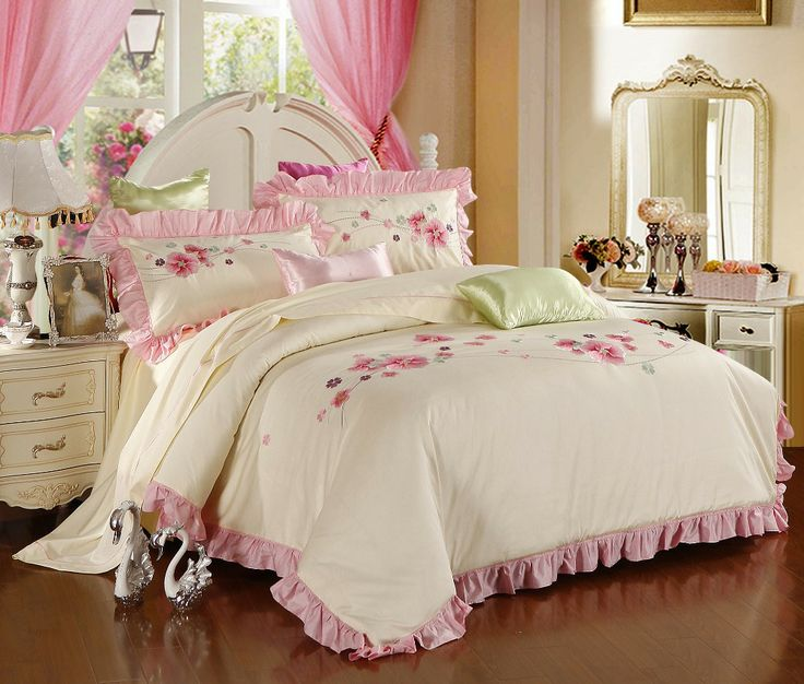 Wholesale Of 100 Cotton Sateen Embroidery Bedding Set