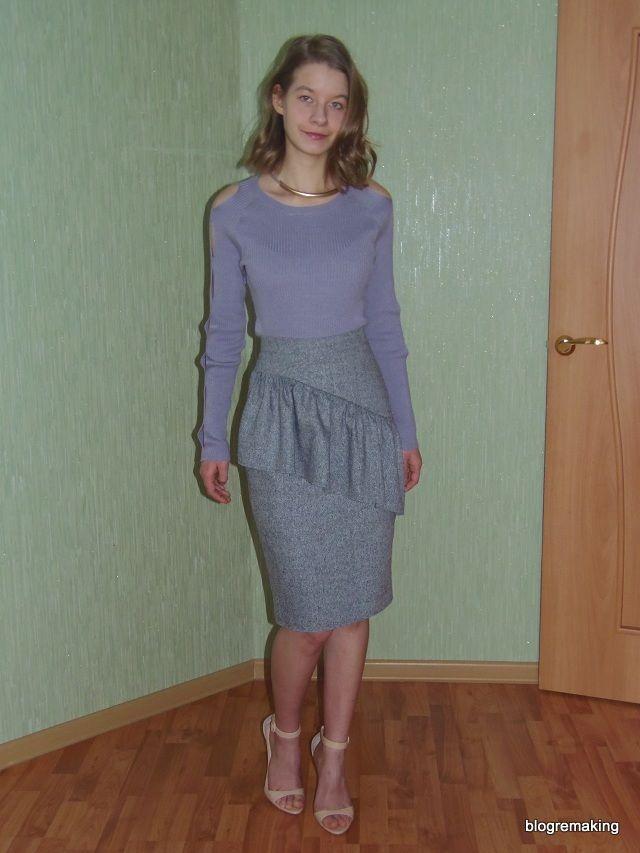 Как сшить юбку-карандаш? Как шить юбку с подкладкой? Как шить юбку с кокеткой? Юбка с воланом. Пошив юбки-карандаш. Соединение подкладки с юбкой. Как шить шлицу в юбке?