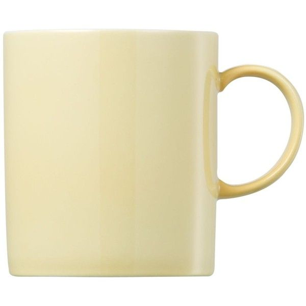 Thomas by Rosenthal Dinnerware Sunny Day Pastel Yellow Mug (£15) ❤ liked on Polyvore featuring home, kitchen & dining, drinkware, fillers, food, accessories, yellow fillers, pastel yellow, everyday drinkware and rosenthal