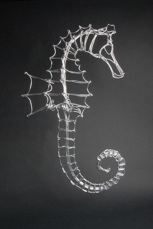 Aluminum Wire Seahorse by Drawn Metal Studios. American Made. See the designer's…