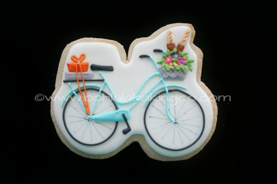 Bicycle picnic cookie