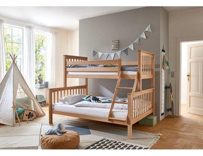 Etagenbett Kinderbett Kick 90 140x200 Cm Buche Massiv Natur 479 90 In 2020 Bett Mit Schubladen Etagenbett Kinder Bett